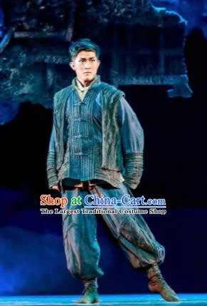 Fu Sheng Chinese Folk Dance Clothing Stage Performance Dance Costume for Men