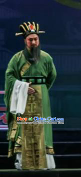 Chinese Shaoxing Opera Bronze Swallow Terrace Green Clothing Stage Performance Dance Costume for Men