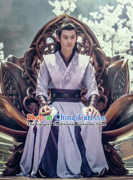 Chinese Drama The Untamed Ancient Swordsman Jiang Cheng Purple Costumes for Men