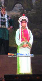 Su Wu In Desert Chinese Peking Opera Court Maid Dress Stage Performance Dance Costume and Headpiece for Women