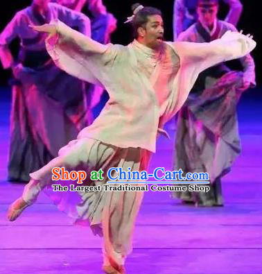 Drama Chinese Orphan Chinese Ancient Cheng Ying Clothing Stage Performance Dance Costume and Headpiece for Men