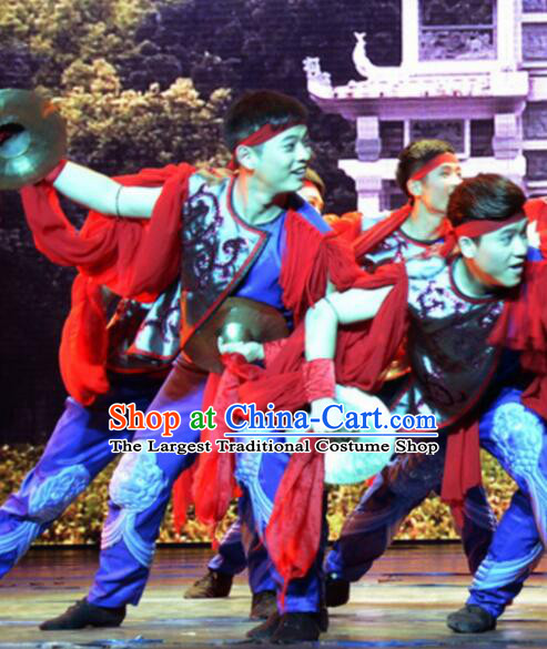 Gucuo Marriage Chinese Traditional Folk Dance Clothing Stage Performance Dance Costume for Men