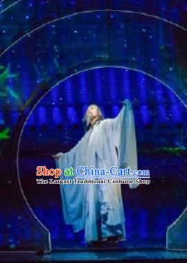 Return To the Three Gorges Chinese Ancient Poet Clothing Stage Performance Dance Costume for Men