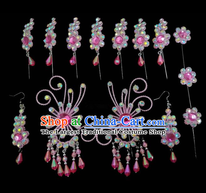 Chinese Traditional Beijing Opera Hair Accessories Peking Opera Diva Hairpins Complete Set for Adults