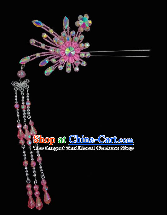 Chinese Traditional Beijing Opera Hair Accessories Peking Opera Diva Tassel Step Shake Hairpins for Adults