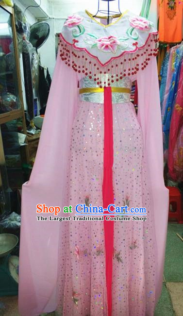 Chinese Traditional Beijing Opera Diva Costume Peking Opera Young Lady Pink Dress for Adults