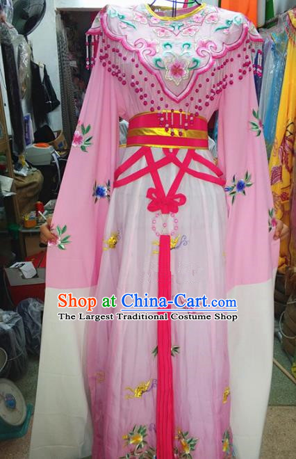 Chinese Traditional Beijing Opera Actress Costume Peking Opera Princess Pink Dress for Adults
