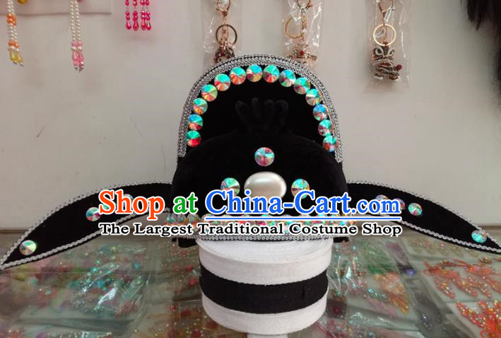 Chinese Traditional Beijing Opera Headwear Peking Opera Official Hat for Adults
