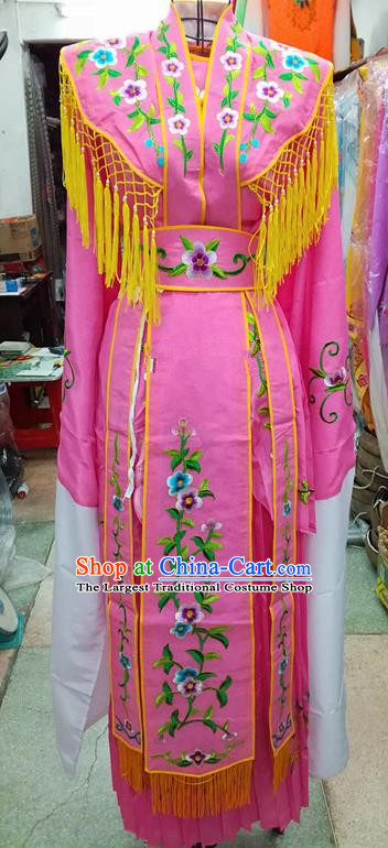 Chinese Traditional Beijing Opera Young Lady Costume Peking Opera Diva Rosy Dress for Adults