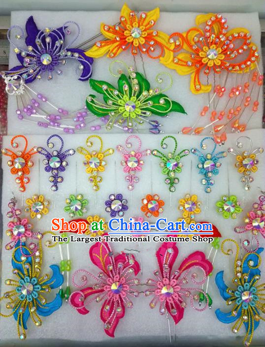 Chinese Traditional Beijing Opera Hair Accessories Peking Opera Princess Head Ornaments Hairpins for Adults