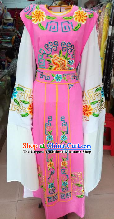 Chinese Traditional Beijing Opera Niche Costume Peking Opera Scholar Pink Robe for Adults