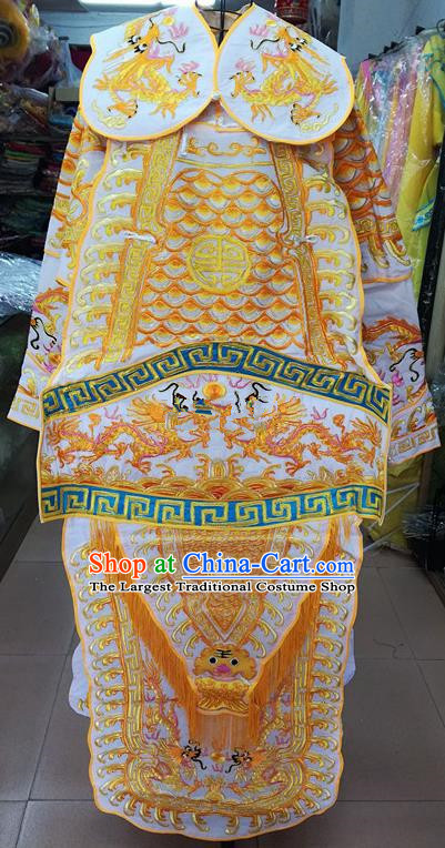 Chinese Traditional Beijing Opera General Golden Costume Peking Opera Military Officer Robe for Adults