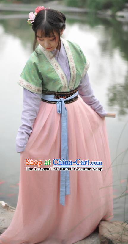 Chinese Ancient Nobility Lady Hanfu Dress Song Dynasty Young Lady Historical Costume Complete Set for Women