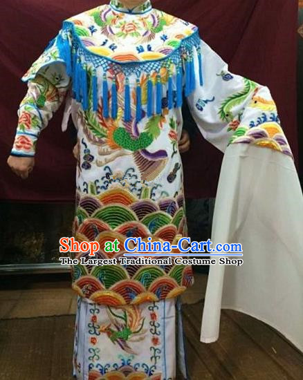 Chinese Traditional Beijing Opera Queen White Water Sleeve Dress Peking Opera Actress Costume for Adults