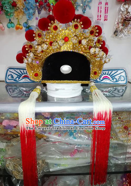 Chinese Traditional Beijing Opera Niche Hat Peking Opera Number One Scholar Headwear for Adults