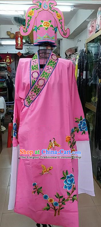 Chinese Traditional Beijing Opera Niche Costume Peking Opera Nobility Childe Pink Robe for Adults