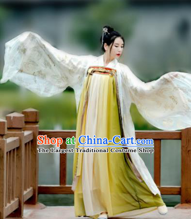 Chinese Ancient Court Maid Hanfu Dress Tang Dynasty Palace Princess Historical Costume for Women
