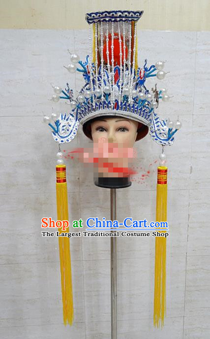 Chinese Traditional Beijing Opera General Hat Ancient Emperor Helmet Headwear for Adults