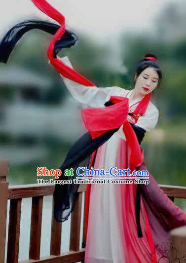 Chinese Ancient Princess Hanfu Dress Traditional Tang Dynasty Palace Lady Historical Costume for Women