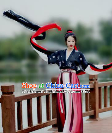 Chinese Ancient Swordswoman Hanfu Dress Traditional Tang Dynasty Female Knight Historical Costume for Women