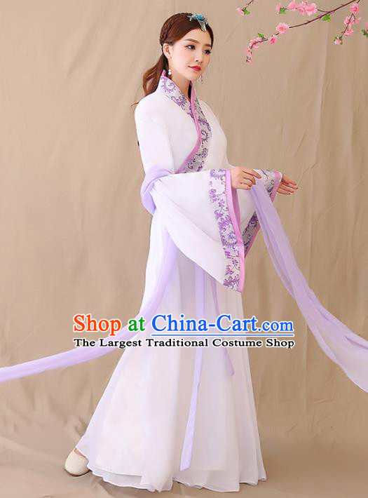 Chinese Ancient Han Dynasty Historical Costumes Traditional Palace Lady Hanfu Dress for Women