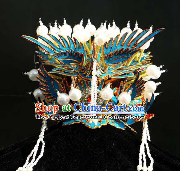 Chinese Traditional Beijing Opera Hair Accessories Peking Opera Pantaloon Old Women Phoenix Coronet