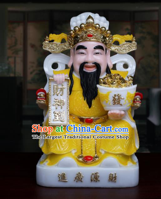 Chinese Traditional Religious Supplies Feng Shui Yellow Clothing Taoism Wealth God Decoration