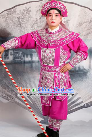 Chinese Traditional Beijing Opera Takefu Rosy Costume Ancient Swordsman Clothing