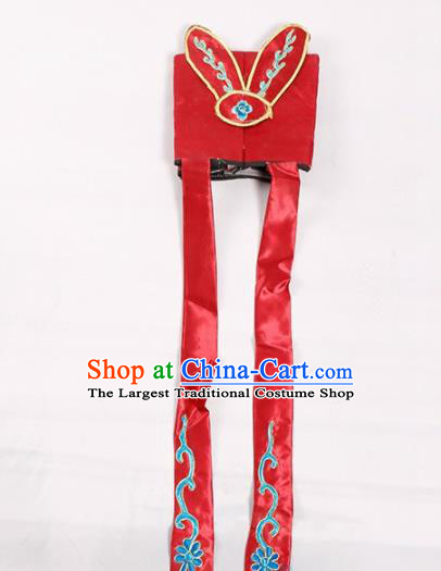 Chinese Traditional Beijing Opera Old Men Headwear Peking Opera Ministry Councillor Red Hat