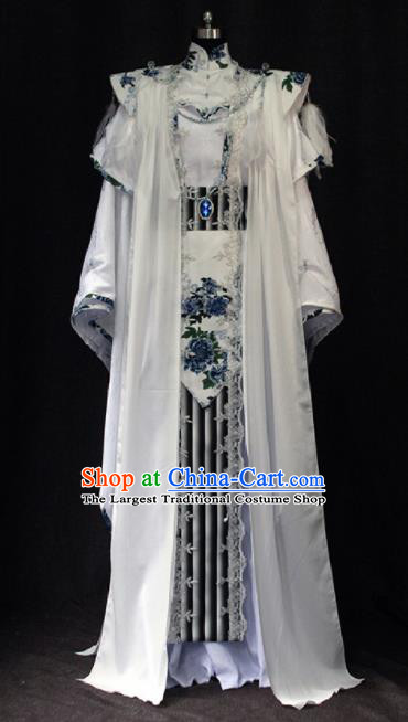Chinese Ancient Cosplay Swordsman Costume Traditional Royal Highness Hero Clothing for Men