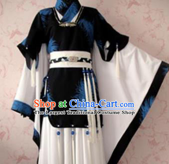 Chinese Ancient General Nobility Childe Costume Traditional Cosplay Swordsman Clothing for Men