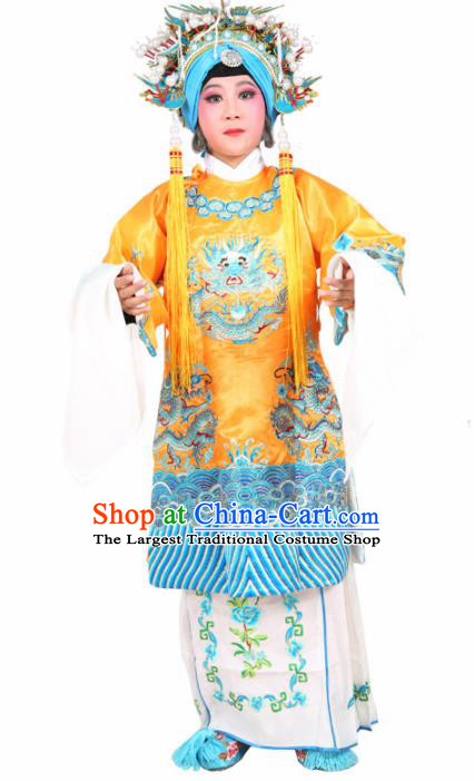 Traditional Chinese Beijing Opera Children Costume Peking Opera Pantaloon Embroidered Robe for Kids