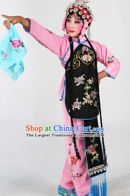 bdfe862e9 Traditional Chinese Beijing Opera Children Costume Peking Opera Maidservants  Black Vest Clothing for Kids