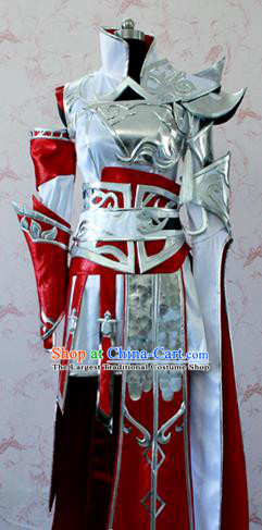Chinese Ancient Swordswoman Costume Traditional Cosplay Female Knight Armor Clothing for Women