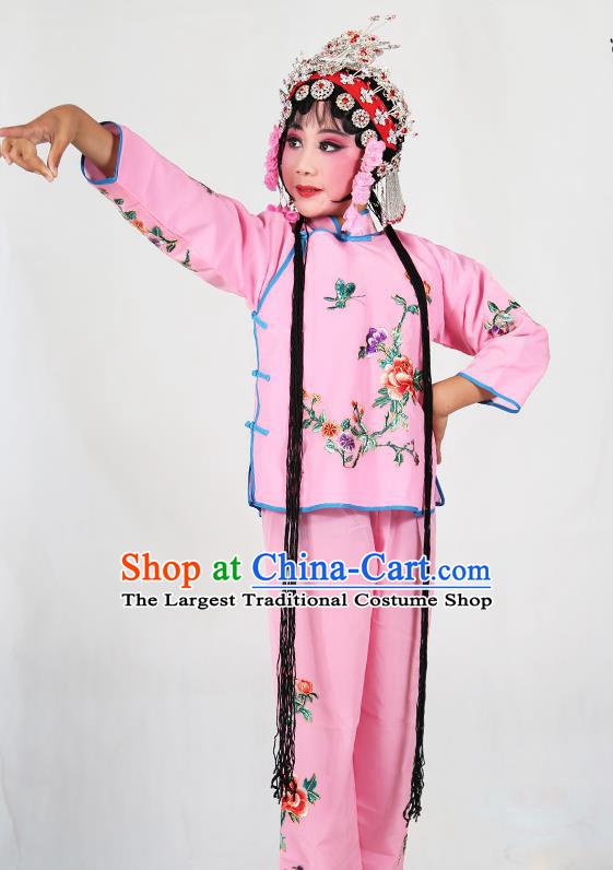 7b776681a Traditional Chinese Beijing Opera Children Costume Peking Opera  Maidservants Pink Dress for Kids