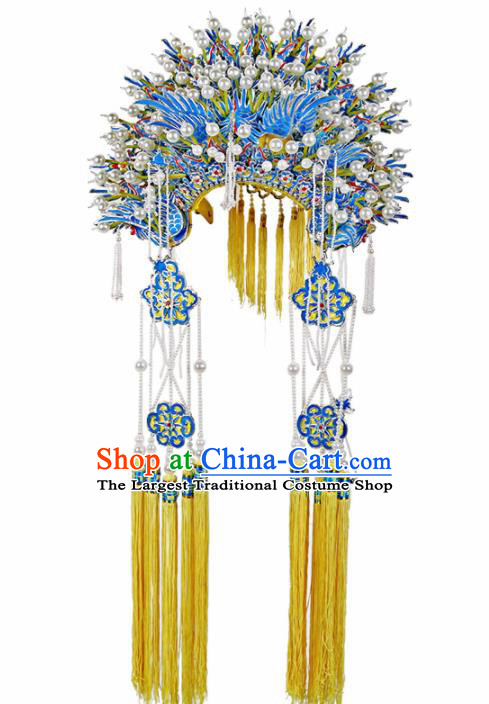 Asian Chinese Beijing Opera Headwear Traditional Peking Opera Imperial Concubine Phoenix Coronet