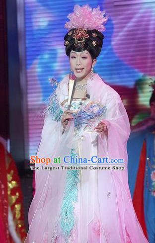 Traditional Chinese Tang Dynasty Imperial Consort Pink Embroidered Dress Ancient Imperial Concubine Historical Costume
