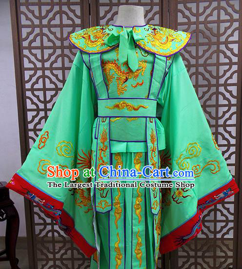 Traditional Chinese Beijing Opera Niche Costume Peking Opera Prince Green Clothing