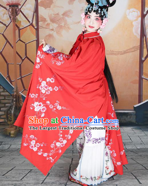 Traditional Chinese Beijing Opera Diva Costume Peking Opera Imperial Concubine Red Cloak