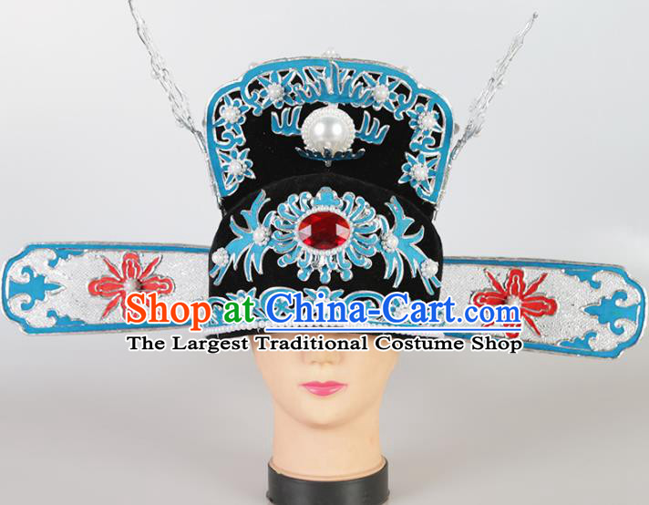 Asian Chinese Beijing Opera Niche Headwear Traditional Peking Opera Number One Scholar Hat