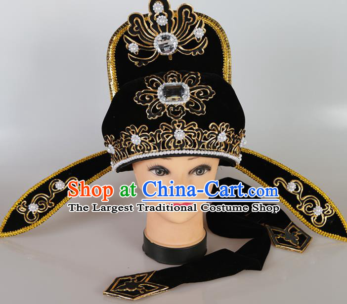 Asian Chinese Beijing Opera Niche Headwear Traditional Peking Opera Young Men Scholar Hat