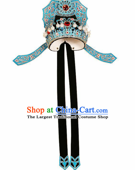 Asian Chinese Beijing Opera Niche Headwear Traditional Peking Opera Scholar Black Hat