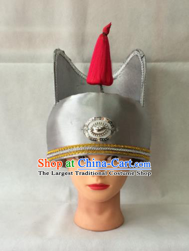 Asian Chinese Traditional Beijing Opera Headwear Ancient Eunuch Hat for Men