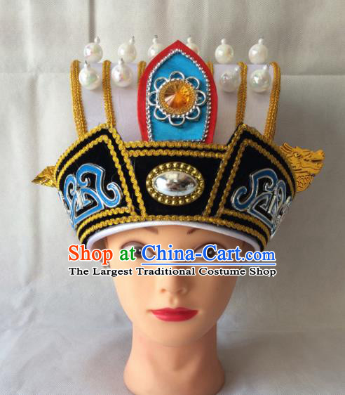 Asian Chinese Beijing Opera Headwear Ancient Minister Hat for Men