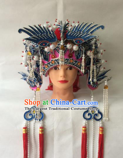 Asian Chinese Beijing Opera Hair Accessories Ancient Imperial Concubine Phoenix Coronet Hat for Women