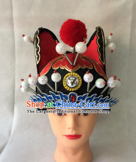 Asian Chinese Traditional Beijing Opera Headwear Ancient Court Eunch Hat for Men