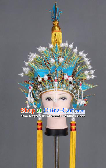 Asian Chinese Beijing Opera Pantaloon Hair Accessories Ancient Phoenix Helmet for Women