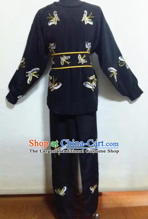 Traditional Chinese Beijing Opera Takefu Costume Ancient Warriors Black Clothing