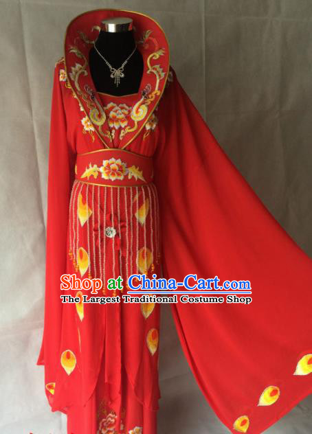 Traditional Chinese Beijing Opera Imperial Concubine Costume Ancient Peri Red Dress for Women