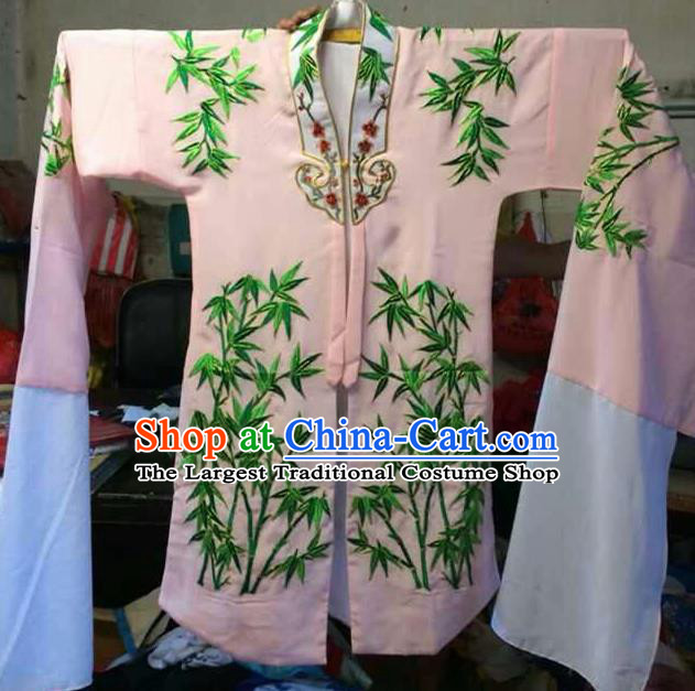 Traditional Chinese Beijing Opera Costume Ancient Princess Embroidered Bamboo Dress for Women